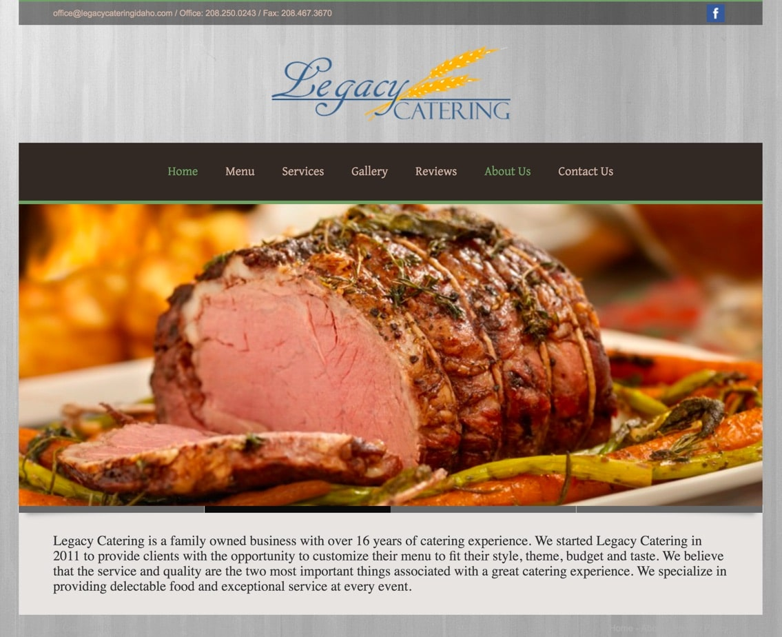 legacy catering website