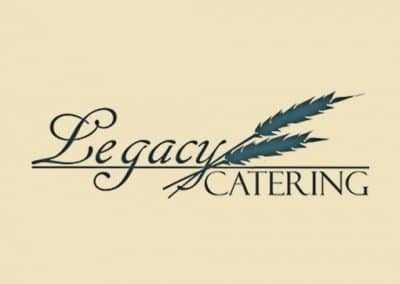 legacy catering logo and website design
